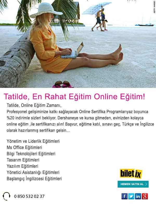 Tatilde, En Rahat Eğitim Online Eğitim