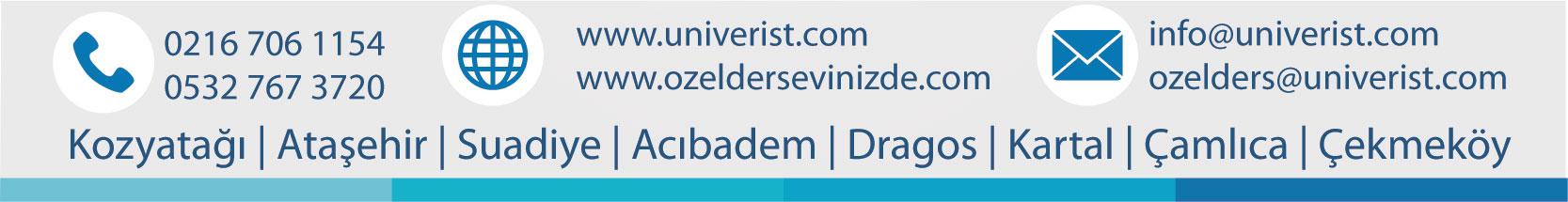 Univerist  Ders Kozyatağı-Ataşehir-Suadiye-Acıbadem-Dragos-Kartal-Çamlıca-Çekmeköy